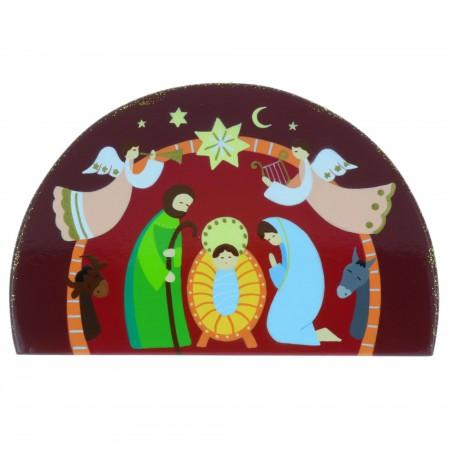 Chevalet religieux de la Nativité 14 x 9,5cm
