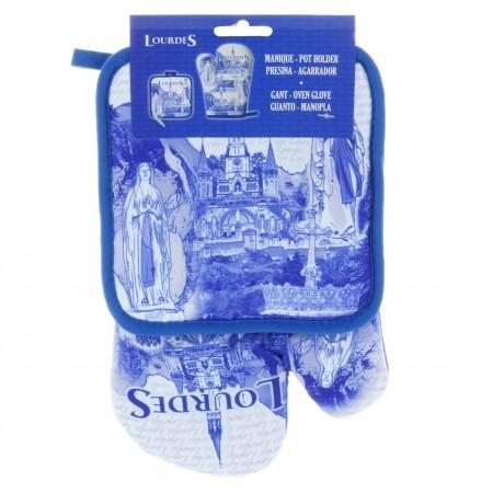 Set gant de cuisine et manique de Lourdes