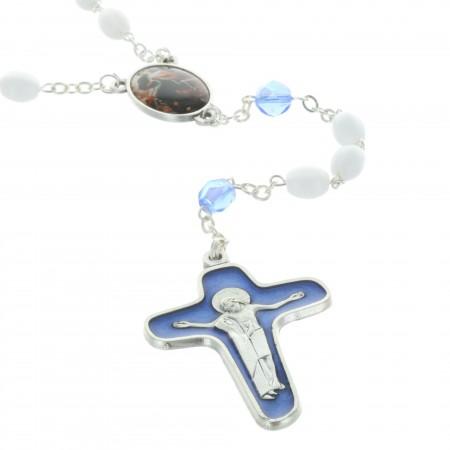 Chapelet de Marie qui défait les noeuds en verre avec la croix de la Mater Dolorosa