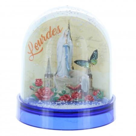 Boule à neige de Lourdes avec prière