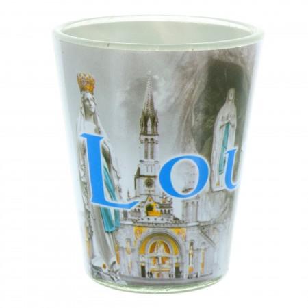 Petit verre pour eau de Lourdes