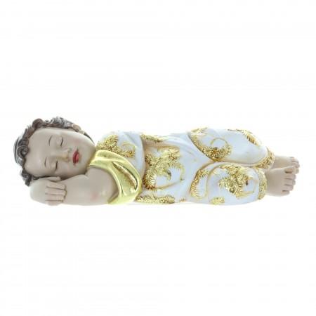 Statue de l'Enfant Jésus couché en résine