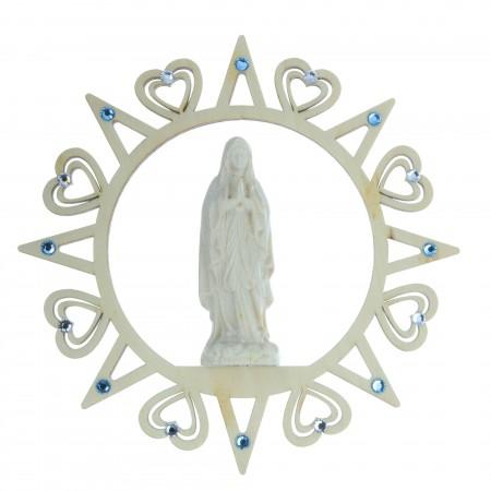 Etoile de Noël en bois avec la Vierge