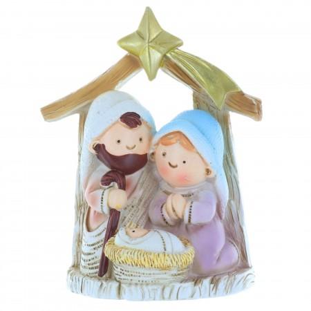 Crèche de Noël et la Sainte Famille 9cm
