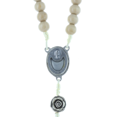 Lourdes water rosary and rose-shaped metal paters