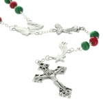 Colourful Christmas Rosary with box