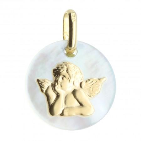 Médaille Ange en Nacre et Or massif
