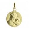 Médaille Or de la Vierge à l'Enfant 1,62g