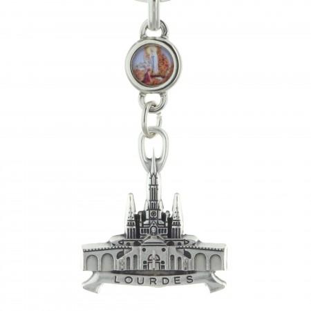 Porte-clés représentant la Basilique de Lourdes
