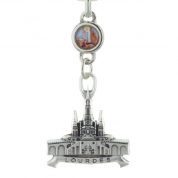 Key ring picturing Lourdes Basilica
