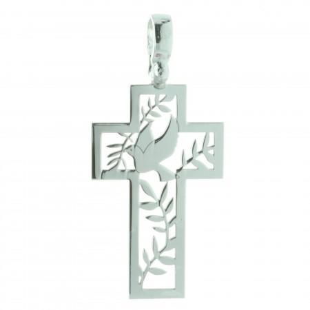 Pendentif croix Argent du Saint Esprit