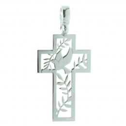 Holy Spirit Silver cross pendant