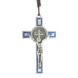 Saint Benedict Crucifix with a cord necklace and booklet