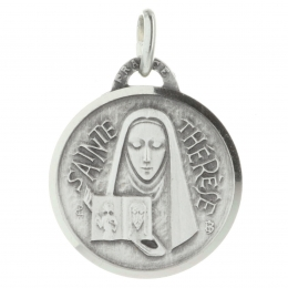 Saint Teresa of Lisieux Silvery metal medallion
