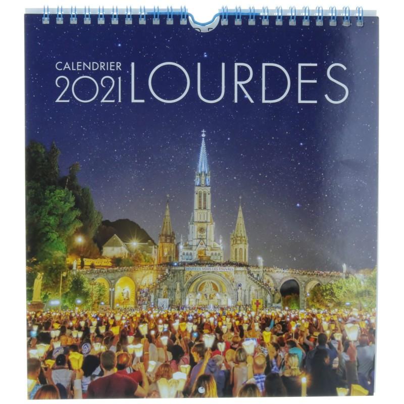 Calendrier Pelerinage Lourdes 2021 Calendrier de Lourdes 2021, grand format