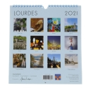 Lourdes 2020 calendar and Lourdes places, large size