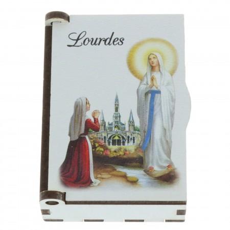 Boîte pour chapelet Apparition de Lourdes