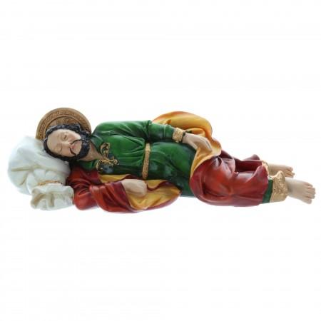 Statue Saint Joseph qui dort en résine 19 cm