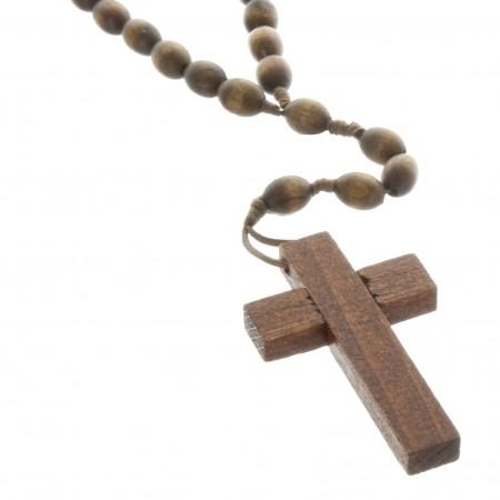 Rosario di Lourdes di legno d'ulivo di Gerusalemme