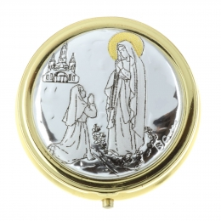 Our Lady of Lourdes Pyx for Hosts