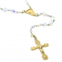 Lourdes rosary in 9carat Gold and 4mm Swarovski beads