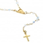 9carat Gold Lourdes rosary and Swarovski crystal
