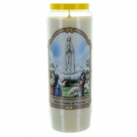 Bougie Neuvaine Notre Dame de Fatima 17,5cm