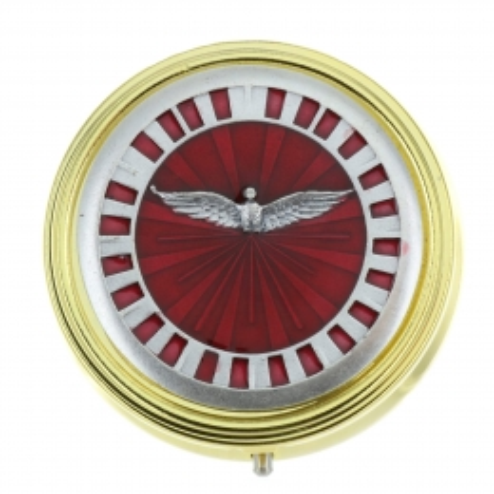 Custode du Saint Esprit émaillée en rouge 5,5 x 5,5cm