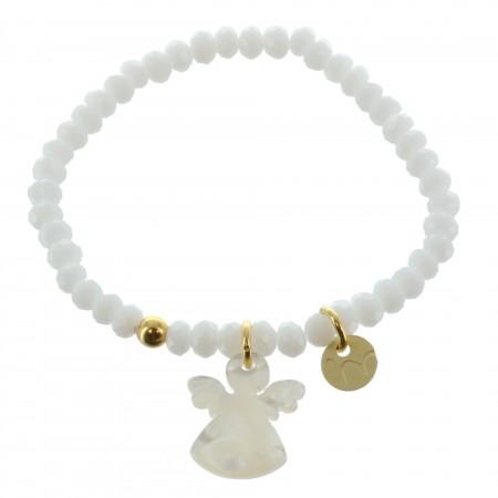 Bracelet de Communion avec un Ange en Nacre