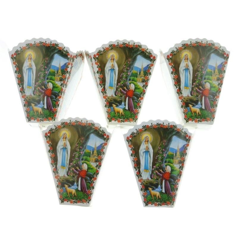 Lot de 5 flambeaux multilingues pour cierge de procession