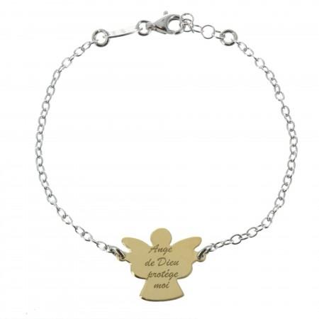 Bracelet en Argent avec un Ange