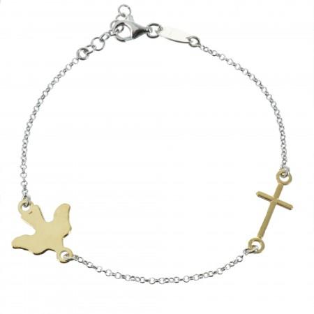 Bracelet du Saint Esprit en Argent avec une croix