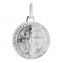 Médaille de Saint Benoit en Argent 1,5cm