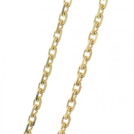 9 karat gold chain 60cm, Forçat link