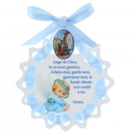 Sopraculla a forma di stella e Apparizione di Lourdes 6 x 7,5 cm