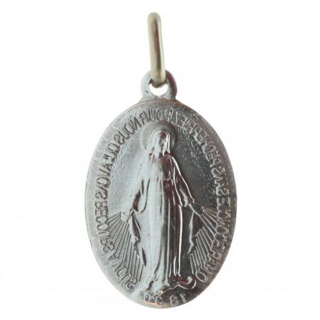 Médaille Miraculeuse en métal argenté