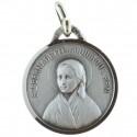 Médaille de Sainte Bernadette Bergère en métal argenté