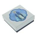 Chapelet de la Vierge Miraculeuse en verre avec une boîte