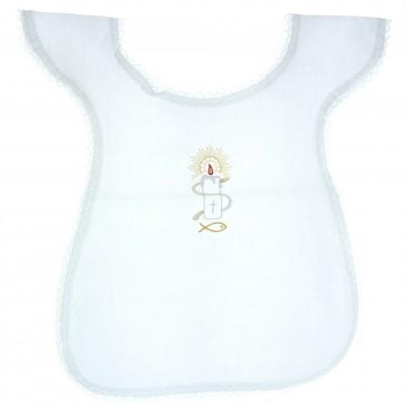 Vêtement de Baptême avec une broderie bougie