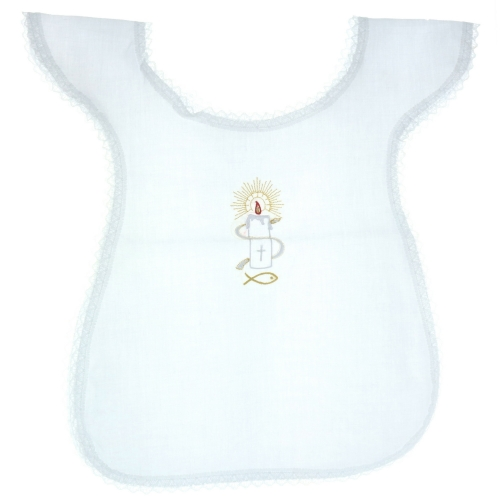 Baptismal Garment with an embroidered candle