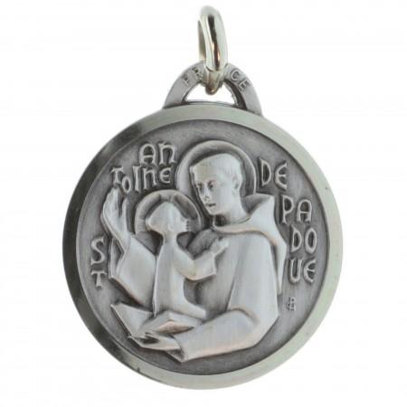 Médaille de Saint Antoine de Padoue argentée