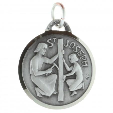 Médaille de Saint Joseph argentée