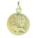 Médaille de la Vierge couronnée en Plaqué Or 18 carats