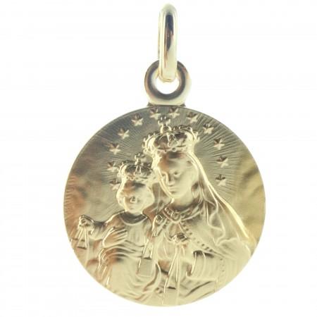 Médaille de la Vierge à l'Enfant en Plaqué Or 18 carats