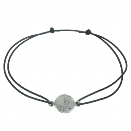 Lourdes cord Bracelet with a Silver Medal