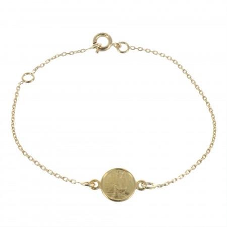 18K Gold Plated Lourdes Bracelet