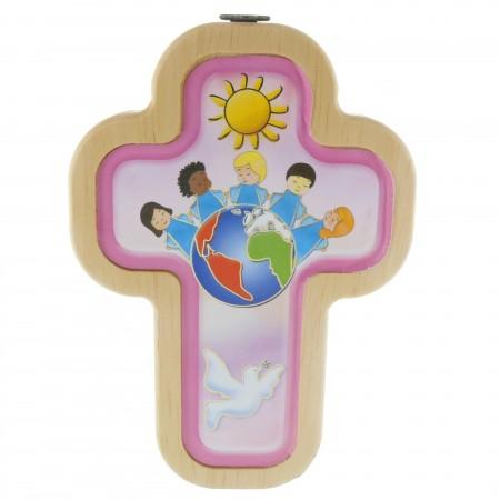 Croce della Fraternità per bambini 14cm in legno