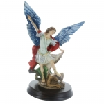 Saint Michael resin Statue with a base 16cm