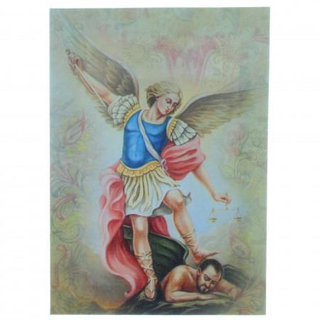 Cadre de Saint Michel sur toile imprimée 13 x 18cm