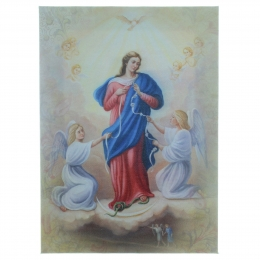 Our Lady Undoer of Knots Frame on printed canvas 13x18cm